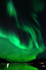 auroral lightpainting (John A.Hemmingsen) Tags: reflection night nightsky northernlights auroraborealis tromsø nordlys arcticlight tokina1116 nikond7000