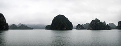 Ha Long Cliffs (William J H Leonard) Tags: ocean winter sea panorama cliff mist water misty clouds landscape asian boats island islands bay boat asia southeastasia vietnamese ship cloudy cliffs vietnam limestone halong southchinasea halongbay northernvietnam limestonerocks gulfoftonkin limestonecliffs earthasia
