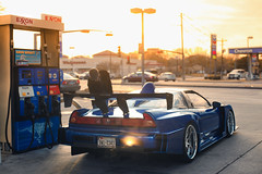 Blue Tiger (Sinned706) Tags: station zeiss racecar canon photoshoot mark tx houston gas ii carl 5d acura nsx exxon 1450