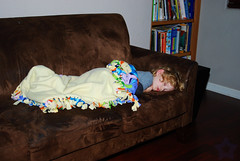 1 of 365 - A Very Tired Boy [Happy New Year!] ([ the black star ]) Tags: boy sleeping one 1 kid toddler things couch kingston blanket stuff 365 shrug k1 1365 1of365 theblackstar