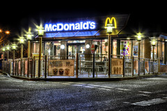 McDonald's    (14) (J Tys) Tags: lowlight mcdonalds scarborough canon5d hdr longexposer hdraddicted thebestofhdr hdrterrorist hdrworlds wwwjoyfulimagescouk