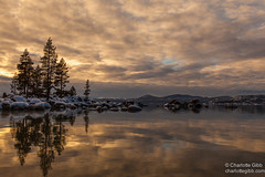 Lake Tahoe Winter Sunset (Charlotte Hamilton Gibb) Tags: winter lake landscape tahoe laketahoe sandharbor geographicfeatures weatherandseasons charlottegibbphotography