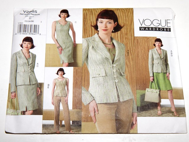Vogue vintage sewing pattern V2865 – jacket, top, dress, skirt and pants – size 12,14,16
