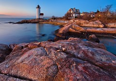Annisquam Lighthouse at Sunset (chris lazzery) Tags: sunset lighthouse twilight massachusetts gloucester bluehour annisquam annisquamlighthouse canonef14mmf28lii 5dmarkii