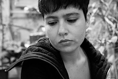 (© Lluvia fotografía) Tags: byn valencia canon tristeza perfil retrato canon5d autorretrato primerplano bancoynegro lluviadevargas lluviafotografía