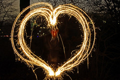 Sparkling Love Light (Ivan Naurholm. thanks, for more than 500.000 views) Tags: longexposure light love night copenhagen denmark heart sparkle danmark sparkling kbenhavn lighttrail hjerte stjernekaster