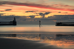 DISTANT SHIPS (Steve Boote..) Tags: longexposure cloud lighthouse colour sunrise dawn pier harbour jetty northumberland northumbria northsea manfrotto blyth northeastengland portofblyth singhrayfilters sigma50mmf14exdghsm steveboote canoneos550d nd3reversegrad