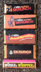 Custom Willy Wonka Chocolate Candy Bars Skrunch (gregg_koenig) Tags: bars candy chocolate concorde custom candies reproduction wonka quaker wrapper willy confections whopper sunline wonkas sunmark skrunch