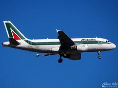 Alitalia --- Airbus A319 --- I-BIMA (Drinu C) Tags: plane aircraft sony airbus dsc alitalia mla a319 lmml ibima hx100v adrianciliaphotography