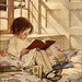 Jessie Willcox Smith  'Picture-Books in Winter' (1905) from A Child's Garden of