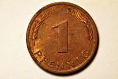 1 Pfennig Vorderseite (Stefan_68) Tags: macro deutschland coin makroaufnahme makro mnze pfennig 1pfennig makrofotografie 1pfennigmnze