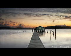 In Silence (AnthonyGinmanPhotography) Tags: sunrise jetty woywoy brisbanewaters olympuse620 paddysoystershed