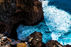 Abyss (galvanol (away for some time)) Tags: sea cliff mountains nature rock canon bay coast seaside cove shore coastline atlanticocean canonef2470mmf28lusm steep caboverde capeverde santoantao kapverden santoanto