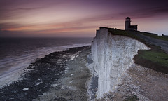 Belle Tout Lighthouse (JamboEastbourne) Tags: sunset sea england cliff seascape sisters sussex chalk head east seven belle beachy tout