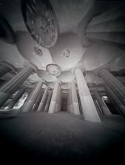 Park Guell (No.169) Tags: barcelona spain pinhole gaudi 4x5 parkguell parcgüell abelsonscopeworks speckscope