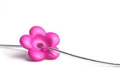 Threaded (judith511) Tags: pink flower minimal bead through ourdailychallenge