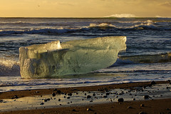 Ice on the Beach (baddoguy) Tags: ocean sea black ice beach iceland sand flickr atlantic glacier east explore journey classics iceberg southeast karas jokulsarlon skaftafell auster feelingscolour