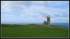 Cliff Top Church (Audrey A Jackson) Tags: sea sky tower history church nature field grass clouds landscape view canonixus400 clifftop