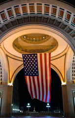 Rowes Wharf, Boston (Stephanie Sinclair) Tags: nightphotography boston newengland americanflag wharf rowes july2016 stephaniesinclairphotography canon80d seattleempress
