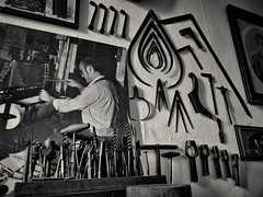 Siegfried's Museum of Mechanical Musical Instruments, Rudesheim (1mpl) Tags: olympusomdem1 germany rudesheim travelphotography museums bw monochrome niksilverefexpro