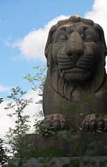 The Lions Under Britannia Bridge (Bad Wolf Babe) Tags: britanniabridge angelsey lion statue britanniabridgelions wales snowdonia lindajenkins