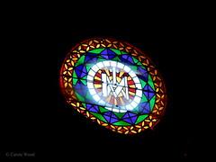 Saint-Hilaire - Abbaye - Eglise (Fontaines de Rome) Tags: aude sainthilaire saint hilaire abbaye eglise vitrail