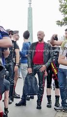 """bootsservice 16 470223 (bootsservice) Tags: paris leather orlando uniform boots rubber des bottes motos uniforme motorcyclists cuir motards caoutchouc motorbiker pride"""" """"gay """"marche fiertés"""""""
