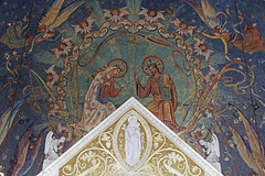 Our Blessed Lady as Queen (Lawrence OP) Tags: queenship blessedvirginmary ourlady queen washingtondc trinity college chapel mosaic angels jesuschrist notredame