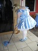 CIMG6822 (sissybarbie1066) Tags: baby satin sissy maid uniform blue mopping kitchen floor