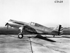 Ray Wagner Collection Image (San Diego Air & Space Museum Archives) Tags: wrightfield aviation aircraft airplane militaryaviation prototype curtiss curtissxp40 xp40 allisonv1710 v1710 allisonv171019 v171019 3810