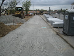 07 Expanded parking lot ready for paving (chelmsfordpubliclibrary) Tags: cpl chelmsford chelmsfordpubliclibrary chelmsfordlibrary greenway