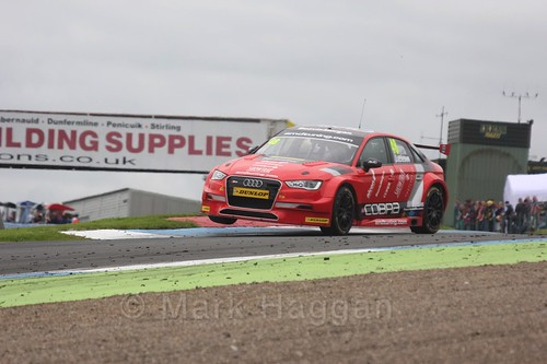 Ollie Jackson in race two during the BTCC at Knockhill, August 2016