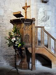 Brecon, Powys (Oxfordshire Churches) Tags: brecon aberhonddu powys wales cymru panasonic lumixgh3 uk unitedkingdom johnward churches anglican churchinwales cathedrals pulpits wallpaintings ravens eagles flowers floralart flowerarranging listedbuildings gradeilisted