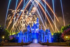 Disneyland Forever (brosephotoz) Tags: disneyland fireworks disneylandforever diamondcelebration longexposure sleepingbeautycastle