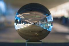 _MG_0293 (AdamFejes) Tags: glass globe glassglobe pointofview light sun summer blackandwhite bw colour city budapest danube sunset
