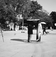 Live time - Huang Rui (rotabaga) Tags: huangrui performance bältesspännarparken sverige sweden svartvitt göteborg gothenburg blackandwhite bw bwfp lomo lomography lubitel166 tmax100 mediumformat mellanformat 6x6 120