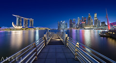 Conquest (draken413o) Tags: singapore marina bay cityscapes skyline skyscrapers urban places scenes night lights asia travel destinations wow canon tilt shift 17mm panorama buildings architecture