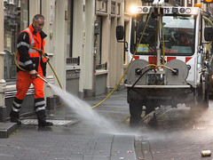 Brgersteigreinigung (knipser24) Tags: amsterdam noordholland niederlande nl