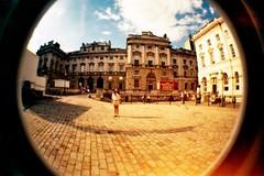 Somerset House (BeefySquarms) Tags: london summer somersethouse fisheyelens fisheyephotography fisheye greatshot photoenvy 35mm lomography film photography filmphotography brightcolours