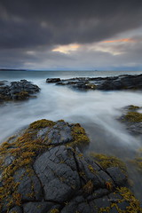 Ru Meanish, Isle of Skye (Adrian Wilkinson) Tags: scotland landscape seascape sea sunset rocks rumeanish isleofskye longexposure littoralzone littoral
