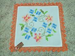 43 (AneloreSMaschke) Tags: tecido xadrez bordado artesanato flores