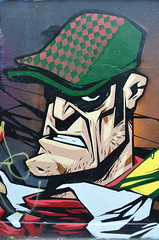 'Ard Man (dhcomet) Tags: public london talented talent spraypaint painting art streetart hard tough guy gangster flatcap chin face hardman