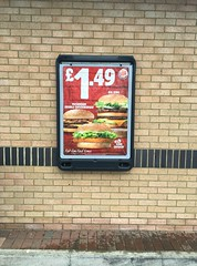 Advocate Wall Mounted Poster Display Sign (Glasdon International) Tags: glasdon glasdoninternational advocate wall mounted burgerking poster display fastfood supermarkets advertising