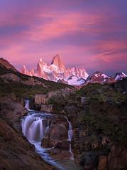 Patagonia (Jay Daley) Tags: patagonia mtfitzroy waterfall sunrise argentina nikon d810 southamerica