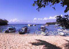 Padang Bai Beach (pradeep javedar) Tags: bali padangbai snorkeling whitebeach beach catarmaran marine blue water sand boat jukung diving travel canon 600d landscape yabbadabbadoo
