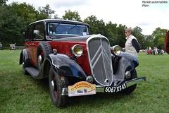 Citron Rosalie (Monde-Auto Passion Photos) Tags: auto automobile citron rosalie rouge noir berline france 48h montargis villemandeur domaine lisledon