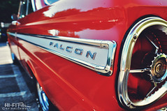 Fab Falcon (Hi-Fi Fotos) Tags: ford falcon red chrome vintage american classiccar badge emblem logo tail detail nikon d5000 hififotos hallewell