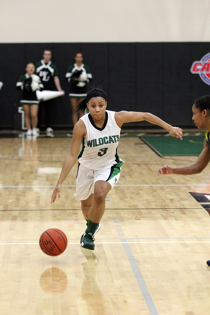 Junior Lauren Brown scored 10 points and added five rebounds and three assists against Goldey-Beacom