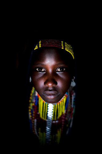 portrait of a girl tribe Erbore
