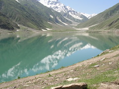 Saiful-Maluk Lake Naran Village Pakistan (  d   ) Tags: pakistan lake snow mountains green nature water landscape town village awesome malik ul saif hillstation naran saifulmaluk snowonmountains saifulmuluk jheel saiful muluk maluk saifulmaluklake saifulmuluklake northeastpakistan naranvillage